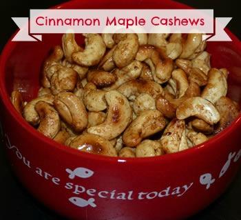 maple cinnamon cashews