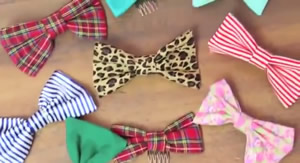 DIY girls hair bows