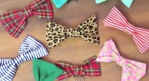 DIY girls hair bows
