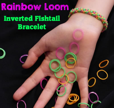 How To Make A Rainbow Loom Inverted Fishtail Bracelet