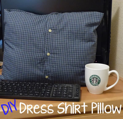DIY No Sew Dress Shirt Pillow