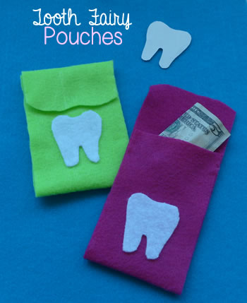 DIY tooth fair pouch