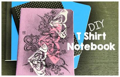 how to make a t shirt notebook DIY