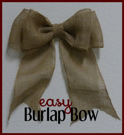 burlap bow making tutorial
