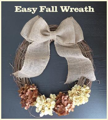 easy & cheap fall wreath