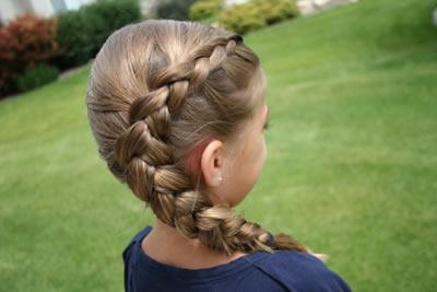 how to do a reverse braid