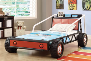 boys race car bedroom