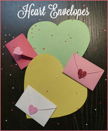 envelope from heart shape