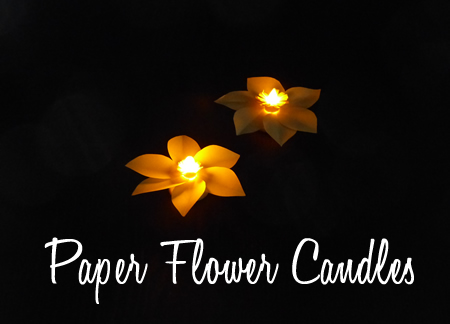 Paper Flower Candles
