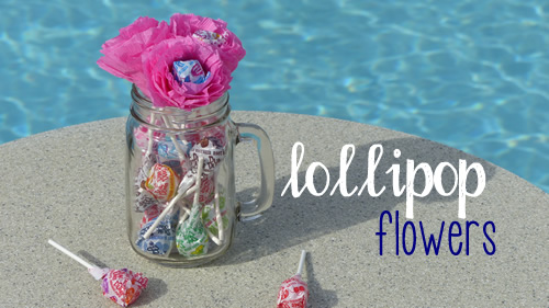 how to make lollipop flowers
