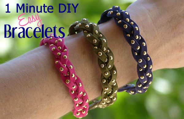 1 Minute DIY Crafts_DIY Super Easy To Make Bracelets