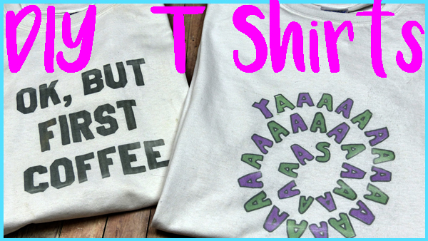 DIY Graphic T Shirts_No Transfer Paper_Simple Craft Ideas