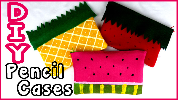 DIY Pencil Cases and Make Up Bags_No Sew