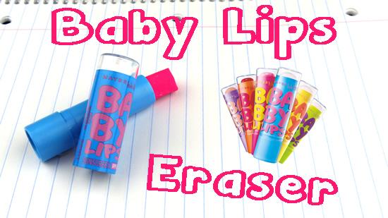 diy erasers _ baby lips _ EOS