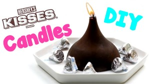 DIY Candles_How To Make Hershey Kisses Candles