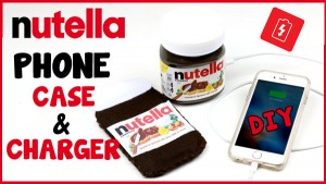 diy nutella phone charger and case