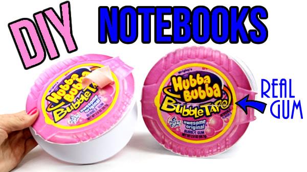 diy bubblegum notebook - hubba bubba diy